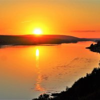 Солнце на закат :: Сергей Чиняев