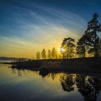 Закат над озером Исетским... :: Pavel Kravchenko