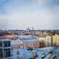 На крыше :: Людмила Сафина