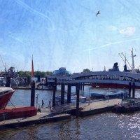 Порт Гамбурга. Мост, мачты, чайка :: Nina Yudicheva