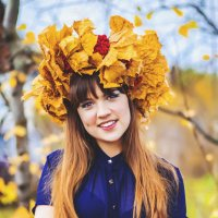 Девушка - осень :: Екатерина Бубнова
