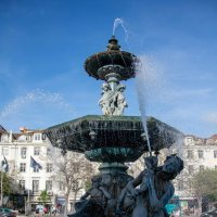 фонтан на площади Россиу :: Константин Шабалин
