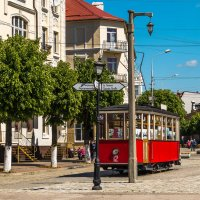 Остановка трамвая в Тильзите :: Игорь Вишняков