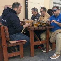 """""""Разговор по душам..."""" за кружкой пива :: Борис Гольдберг"""