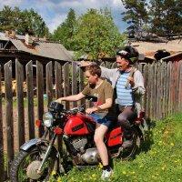 Держусь, с мотоцикла не свалюсь. :: Галина .