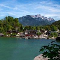 Вид на пристань горного озера в Альпах. :: Eduard .