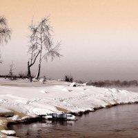 Обь зимой. :: Рустам Илалов