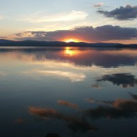 Закат на озере Кисегач :: Александр Садовский