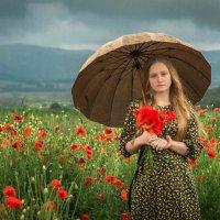 Девушка с зонтом :: Алексей Яковлев