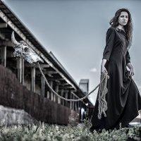 Катя гуляет с Борькой :: Sergey Lexin