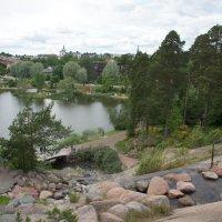 Водный парк Сапокка в Котке. Вид с вершины водопада :: Елена Смолова