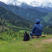 Посидеть в горах :: Горный турист Иван Иванов