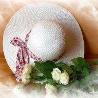 Белая шляпка и розы :: Nina Yudicheva