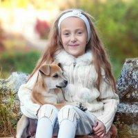 Девочка со щенком :: Рола Kарут