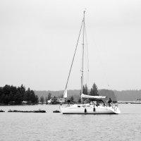 Яхта на озере :: Валерий Новиков