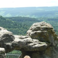 Вид на Кавказ с площадки, где М. Ю. Лермонтов писал свои стихи :: Вера Музафарова