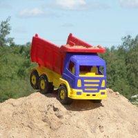 помнится и я когда то на кучке песка играл в машинки....возил на КРАЗе песок)))) :: Михаил Жуковский