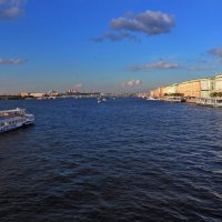 Невские просторы на склоне дня :: Сергей Мурзин