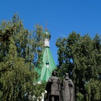 Великий князь Георгий Всеволодович со своим наставником Симоном :: Ирина ***