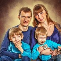 Рисунок из фото Семейный портрет :: Лариса Соколова