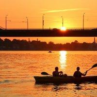 закат на реке Даугава в столице Латвии Риге :: vasya-starik Старик