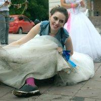 Чумазая счастливая невеста :: Albina