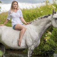 Фотосессии с лошадьми, Анастасия и Графиня :: Светлана Козлова