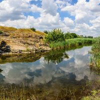 Чистая река у скал :: Юрий Шапошник