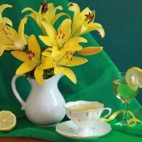 Лимон и лилии. :: alfina