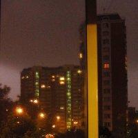 Гроза в полночь. Вид с балкона (из укрытия) :: Андрей Лукьянов