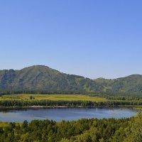 Манжерокское озеро  с вершины горы Синюха :: Tatiana Lesnykh Лесных