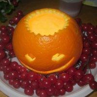 Подсвечник из апельсина :: татьяна