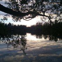 Закат на озере :: Олег Каплун