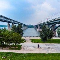 Мосты,река Обь и набережная :: Света Кондрашова