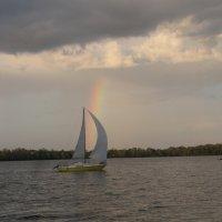 Парус-радуга плывёт под облаками... :: Алекс Аро Аро