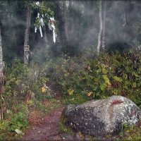 Святой Камень у Чудотворного источника. :: Елена Швецова