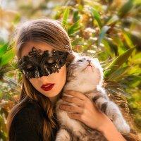 Девушка с котом :: Андрей Володин