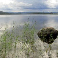 Озеро и камень. :: Галина Полина
