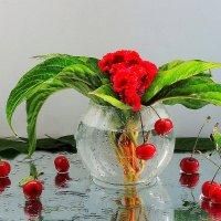 Цветок и вишня :: Павлова Татьяна Павлова