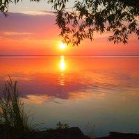 Закат на озере :: Елена Пискунова