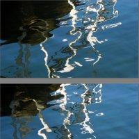 Отражения в воде ограждений пирса :: Асылбек Айманов