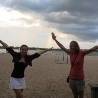 Радуга девичих эмоций на пляже... :: Алекс Аро Аро