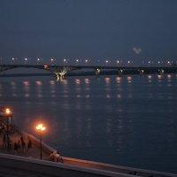 Мост через Волгу вечером :: Марина Титкова