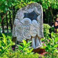 Камень, установленный к 100-летию основания парка. 1906-2006. :: Сергей Хомич
