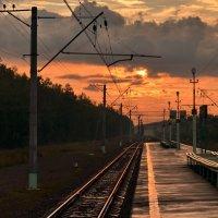 На платформе после дождя :: Владимир Брагилевский