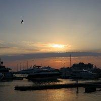 Закат в Морском порту :: valeriy khlopunov