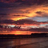 трудно поверить, но закат был такой! :: Юлия