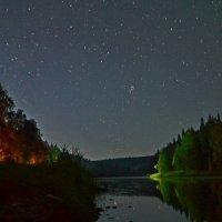 Звездное небо над рекой Усьва. Пермский край :: Татьяна Крэчун
