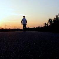 Дорога на закате.Белгородская область поселок Разумное.Август :: Иван Медоф