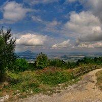 вид с горы Машук, в дали гора Змейка :: Евгений Ромащенко